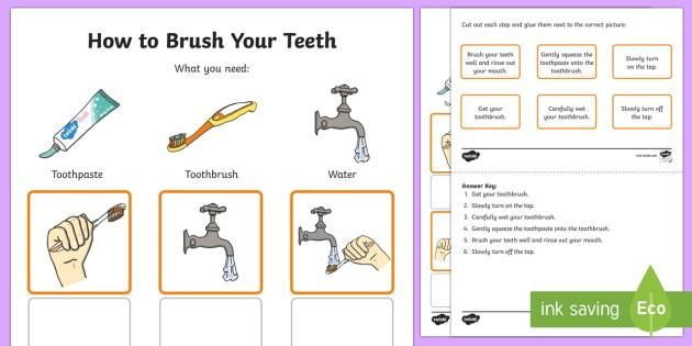 Australia Kindergarten How To Brush Your Teeth Procedure Word And