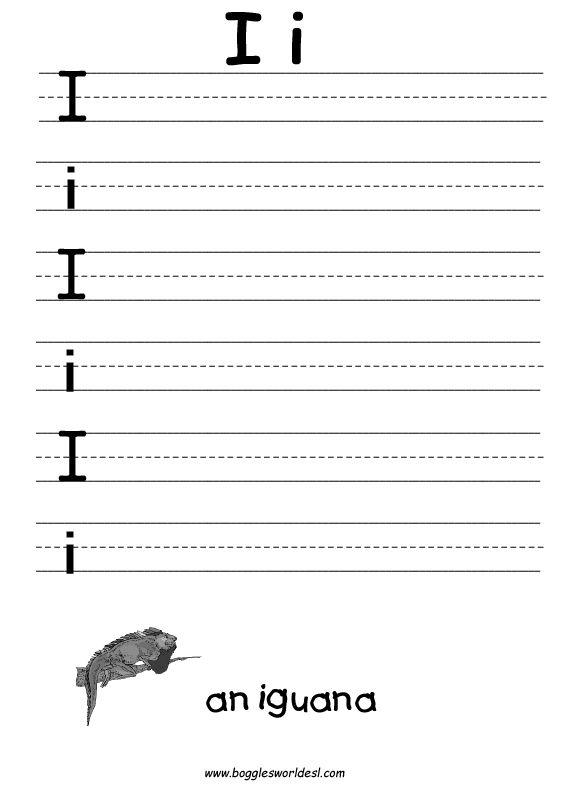 Letter I Worksheets