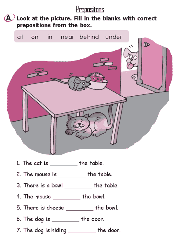 Image Result For Preposition Worksheets For Class 2