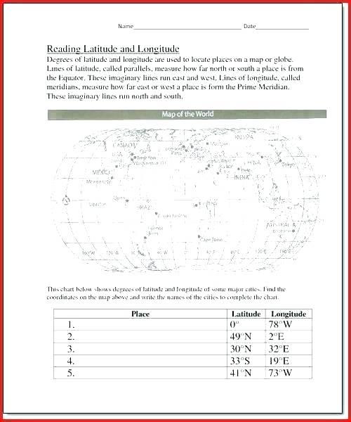 Best Of Latitude And Longitude Practice Worksheets Map Skills