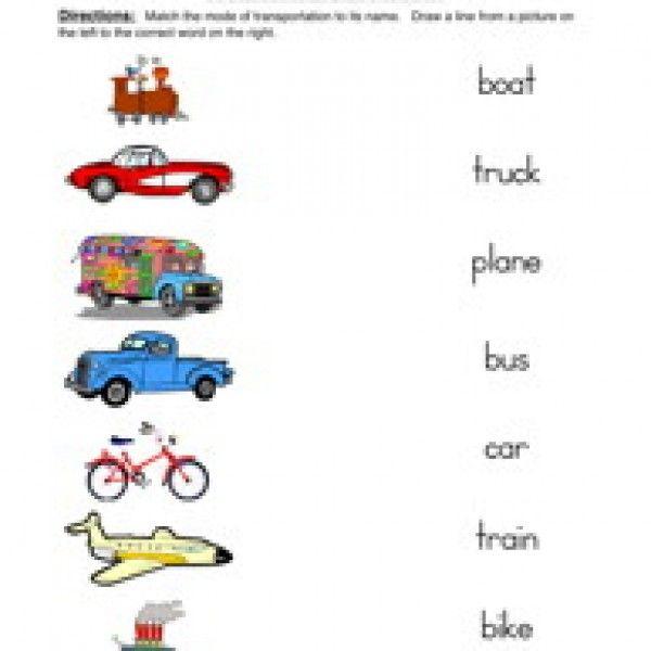 All Kinds Of Transportation Worksheets