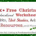 Christmas School Activities Worksheets