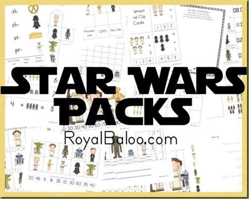 Free Homeschool Printables  Star Wars Free Printable Worksheets Pack
