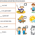 Verb To Be Am, Is, Are Worksheets