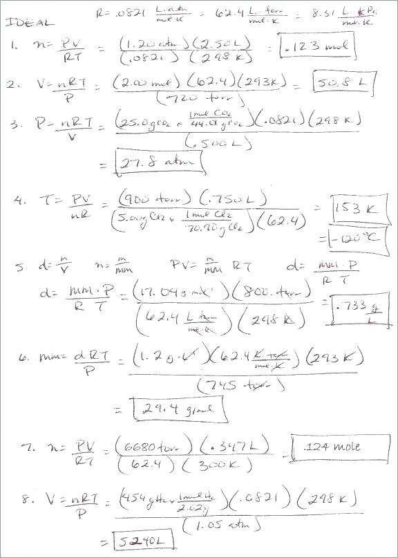 Chemistry Worksheets With Answers – Tahiro Info