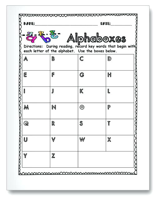 Name Collection Boxes Worksheets – Sibarit Info