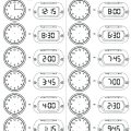 Free Printable Telling Time Worksheets 2nd Grade
