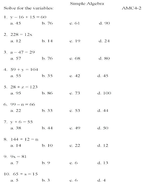 College Algebra Worksheets Math – Upskill Club