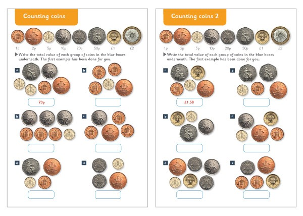 Counting Coins Maths Worksheets