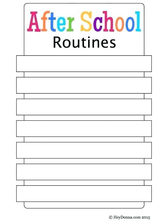 After School Activities Worksheets