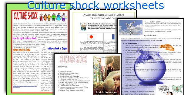 Culture Shock Worksheets