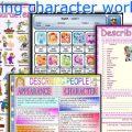 Describing Character Worksheets