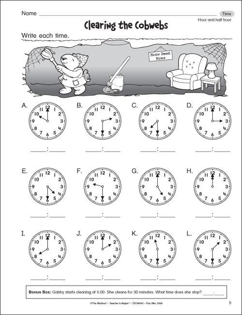 Free Worksheets For 1st Graders  3