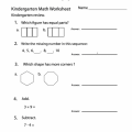 Sample Worksheets For Kindergarten