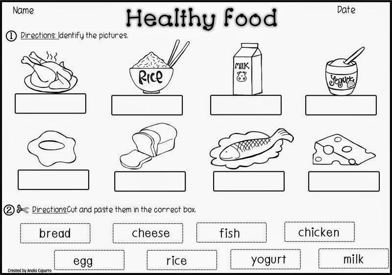 Image Result For Healthy And Unhealthy Food Worksheet