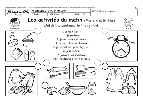 Daily Routines Free Worksheets