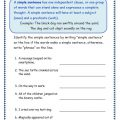 Simple Sentence Structure Worksheets