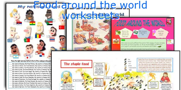 Food Around The World Worksheets