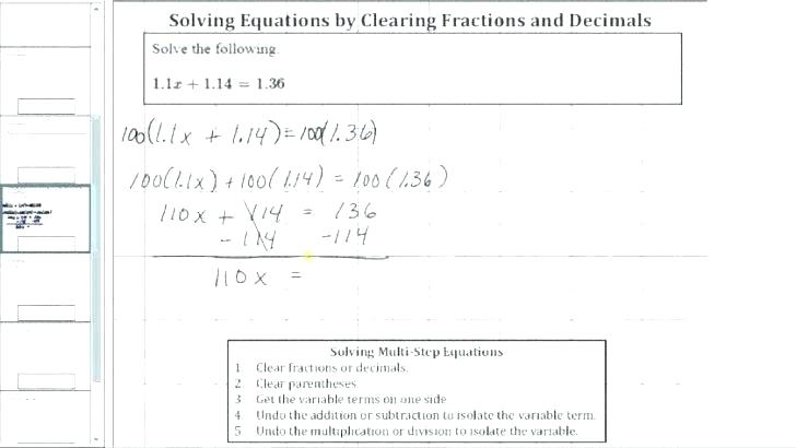 Fractions With Variables Worksheets Fractions With Variables