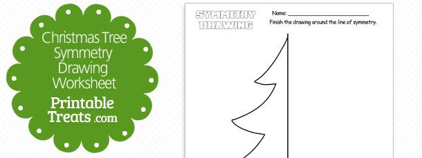 Christmas Tree Symmetry Drawing Worksheet — Printable Treats Com