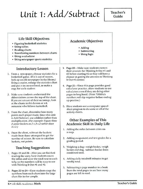 Free Life Skills Lesson Plans Worksheets High School Practical