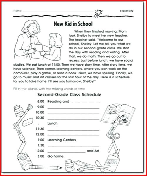 Free Printable Sequence Of Events Worksheets Grade Sequencing For 2