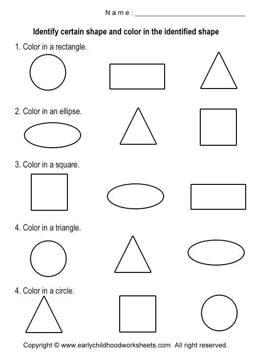 Free Printable Shapes Worksheets 2 3d For Kindergarten Kids 2nd Grade