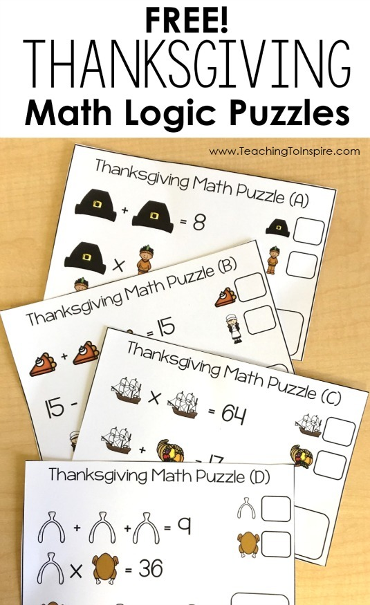 Free Thanksgiving Puzzles