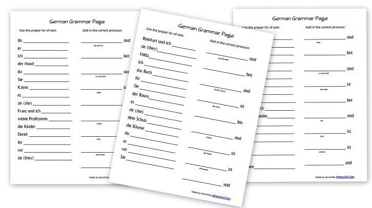 Free German Worksheets For Kids