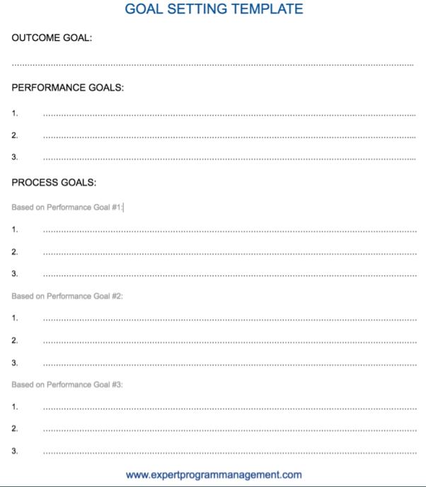 Athlete Goal Setting Worksheets