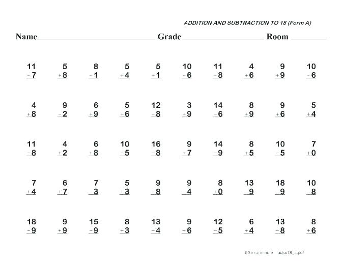 Grade 2 Math Subtraction Worksheets Printable Subtraction