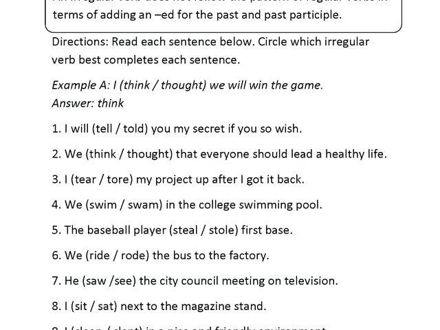 Grade 6 Worksheets Elegant Verbs Worksheets For Grade 6 With