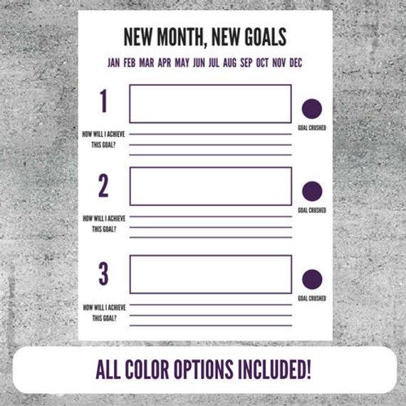 Printable Goal Setting Worksheet Goals Goal Tracker Plan