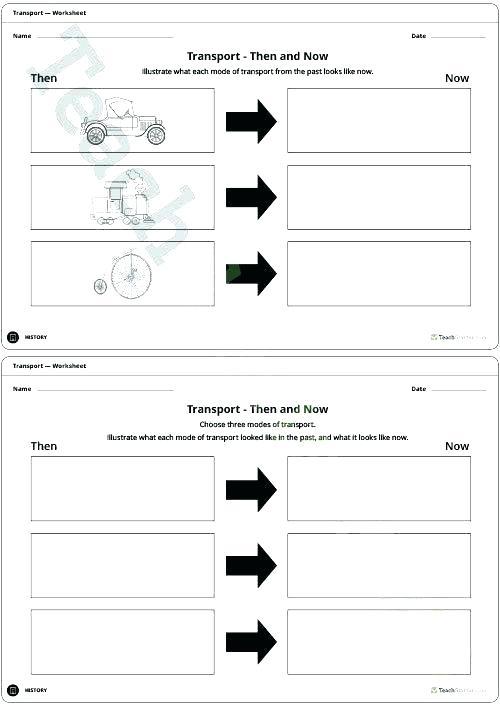 K Transportation Math Worksheets Preschool Reception Maths