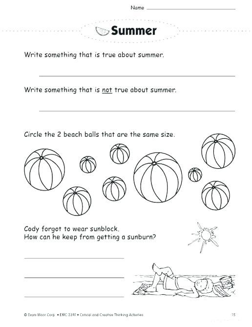 Critical Thinking Math Worksheets