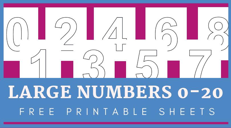 Large Printable Numbers 1