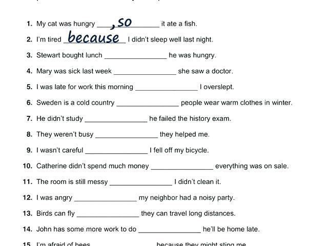 Learning English Worksheets
