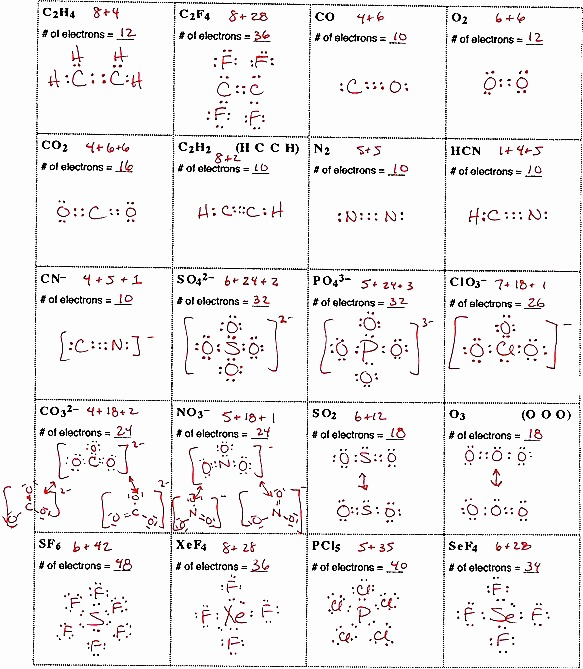 Lewis Structure Worksheets With Answers New Lewis Dot Diagram