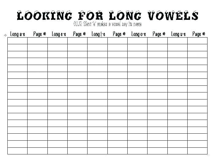 Long Vowel Vs Short Vowel Worksheets