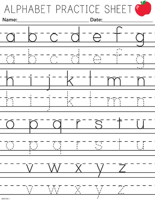 Handwriting Practice Letters
