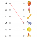 Matching Alphabets With Pictures Worksheets