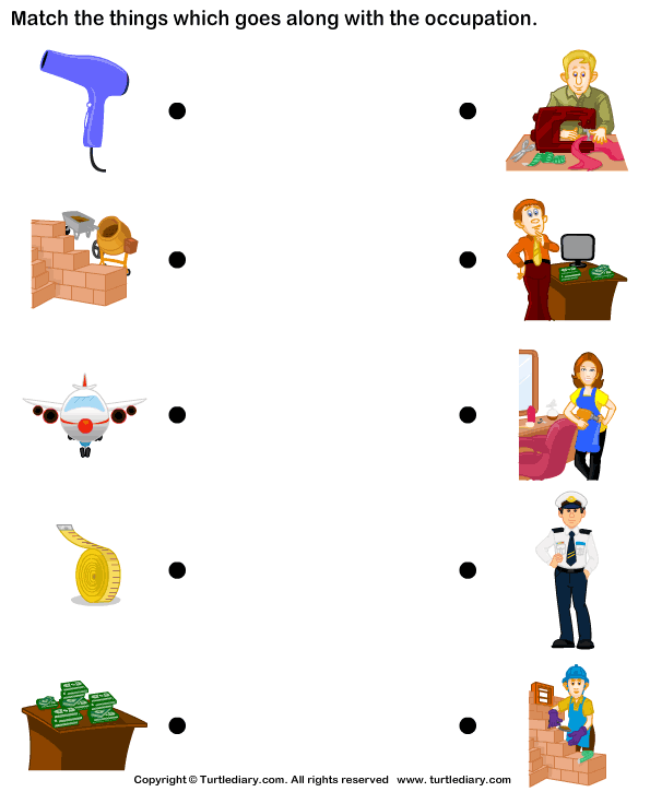 Matching Occupation Worksheet