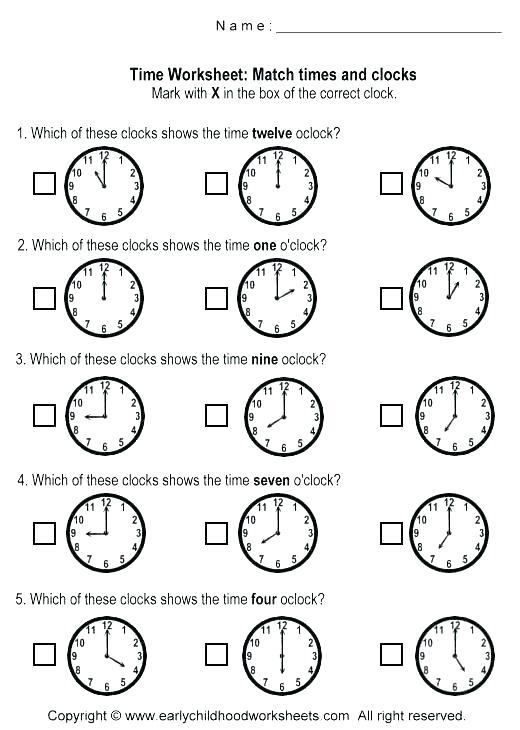 Clock Practice Worksheets