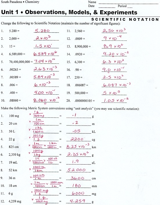 Metric System Conversion Worksheet With Answers The Best