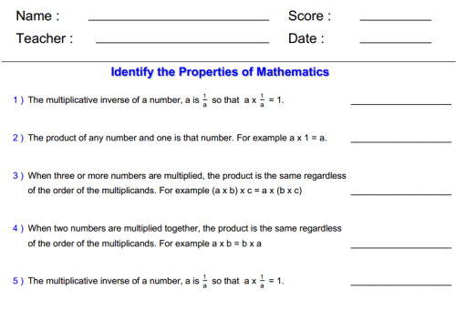 Understand Properties Of Multiplication And The Relationship