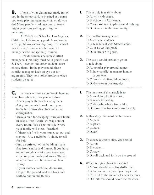 Printable Main Idea Worksheets Lovely Main Idea Grade Worksheets