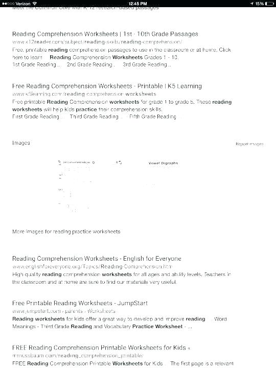 Reading Comprehension Worksheets Grade Science Practice Beautiful