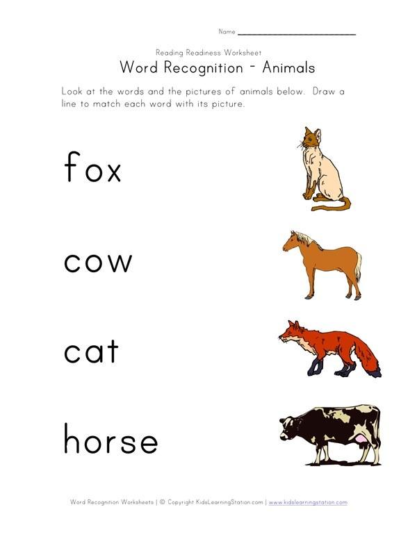 Recognize Words Worksheet