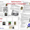 Martin Luther Reformation Worksheets
