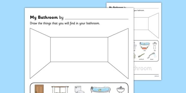 My Bathroom Aistear Follow On Worksheet